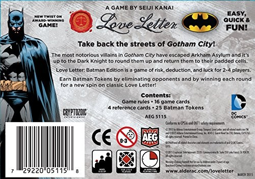 Aeg Love Letter Batman Boxed Edition Card Game Buy Online At The Nile